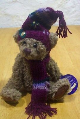 "Brass Button Bears DOOLEY TEDDY BEAR W/ HAT & SCARF 8"" Plush STUFFED ANIMAL Toy"