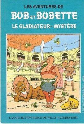Vandersteen: Bob et Bobette. Carte publicitaire Le Soir. Le gladiateur-mystère
