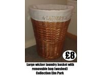 *** Large Wicker Laundry Basket ***