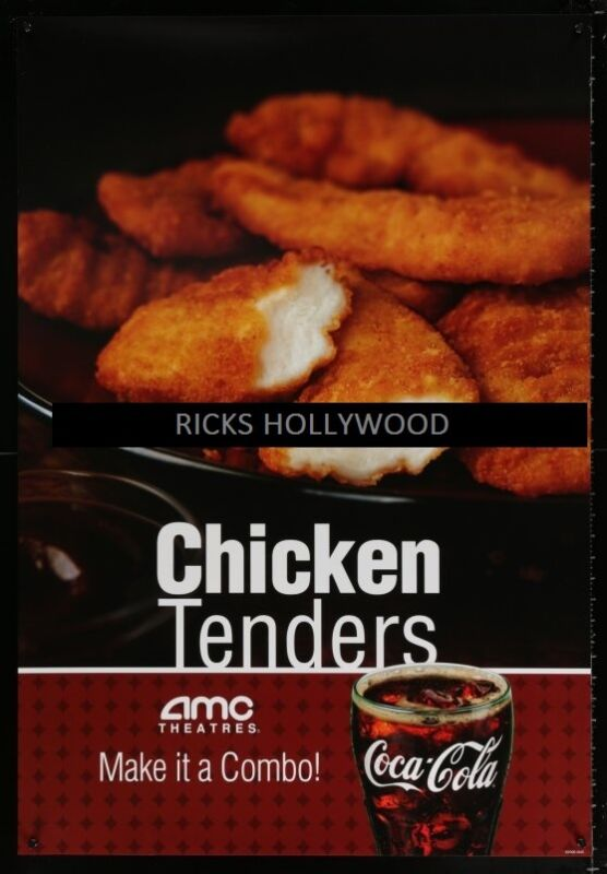 Original COCA-COLA CHICKEN TENDERS AMC Theatres Poster GREAT FOR HOME THEATER