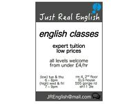 english classes: expert tuition, low prices, all levels