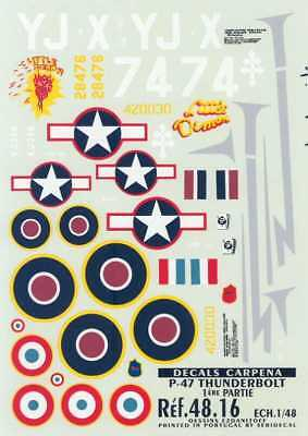 (Colorado Decals 1/48 REPUBLIC P-47D THUNDERBOLT Fighter ALLIED VERSIONS)