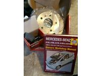 Rear brake discs/pads set for Mercedes a classW168