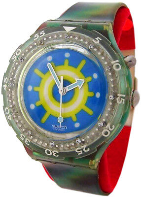 Loomi Light (Swatch Reef Scuba Loomi 1997 Unisex Quartz Wrist Watch Blue Green with)