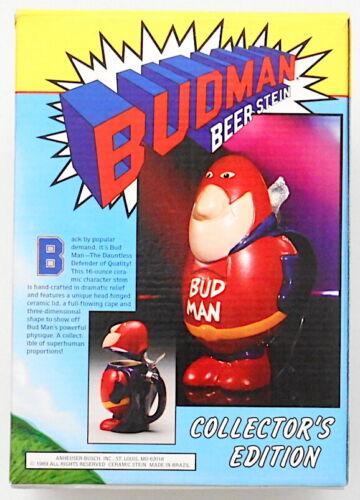 Vintage 1989 Budweiser Budman Collector