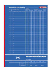 Herlitz 882415 Kassenabrechnungsbuch A4 502 2x50 Blatt günstig kaufen