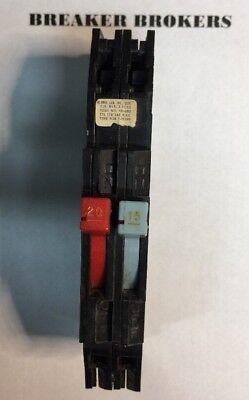 Breaker Zinsco Sylvania Gte 1520 Two 1 Pole 120240v Tandem Rc38-perfect