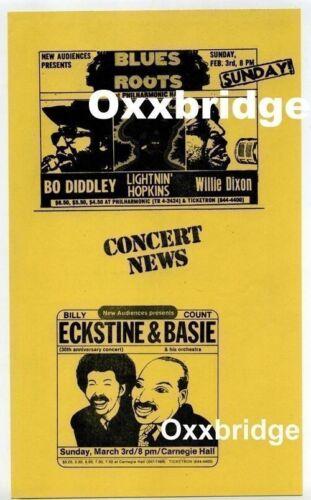 LIGHTNIN HOPKINS Bo Diddley 1974 BILLY ECKSTINE Will Dixon JAZZ Blues Original