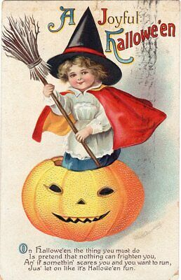 HALLOWEEN POSTCARD, ELLEN CLAPSADDLE, SERIES 1667, INERNATIONAL ART PUBLISHING. - Ellen Clapsaddle Halloween Postcards