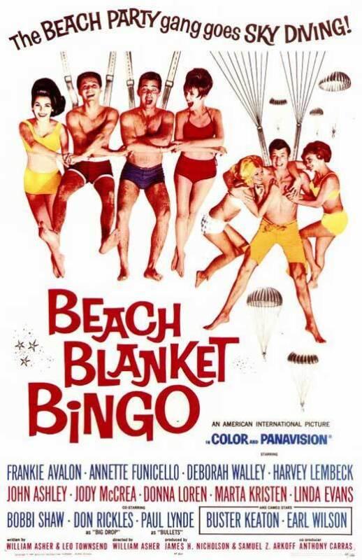 BEACH BLANKET BINGO Movie Promo POSTER Frankie Avalon Annette Funicello