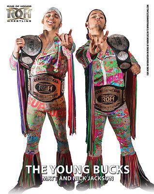 Official ROH Ring of Honor The Young Bucks (Matt & Nick Jackson) UK 8x10