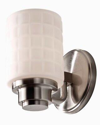 Feiss Wadsworth Art Deco 1 Bulb VS32001-BS Brushed Steel Vanity Sconce New Art Deco Steel Vanity