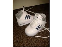 Infant size 3 uk high top adidas trainers