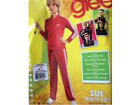Fancy dress: Glee Costume - Women's Sue Red Tracksuit Costume (UK Size 10-12)