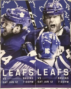 Toronto Maple Leafs vs Boston Bruins - FIRST ROW SEATS