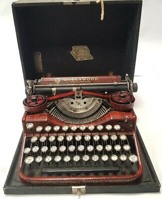 Antigua maquina de escribir UNDERWOOD marron rare typewriter underwood BROWN