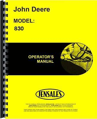 John Deere 830 Diesel With Gas Assist Start Tractor Operators Manual