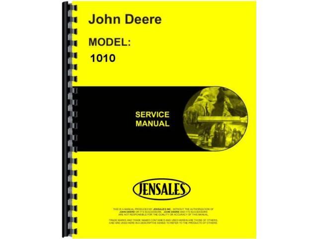 John Deere 1010 Crawler Service Manual JD-S-SM2034