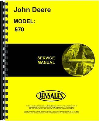 John Deere 570 Grader Service Manual