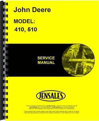 John Deere 410 510 Round Baler Service Manual Jd-s-tm1194