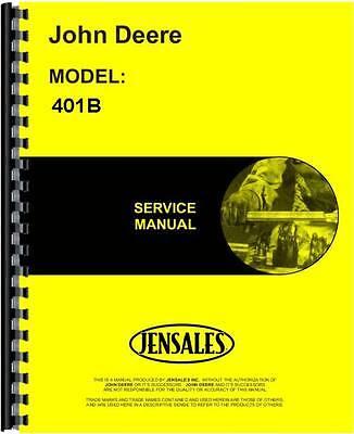 John Deere 401b Tractor Loader Service Manual