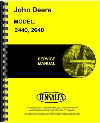 John Deere 2240 2440 2640 Tractor Service Manual Jd-s-tm1142