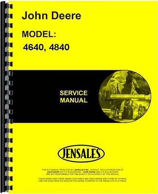 John Deere Tractor Service Manual 4640 Tractor 4840 Tractor Jd-s-tm1183