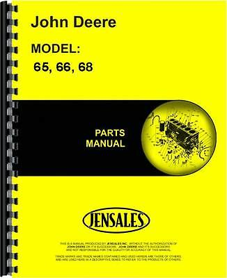 John Deere 65 66 68 Lawn Garden Tractor Parts Manual Jd-p-pc1507