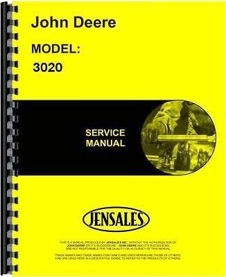 John Deere 3020 Tractor Service Manual Sn 123000 And Up Jd-s-tm1005