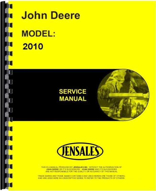 John Deere 2010 Tractor Service Manual JD-S-SM2035