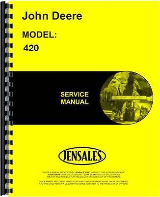 John Deere 420 Engine Service Manual