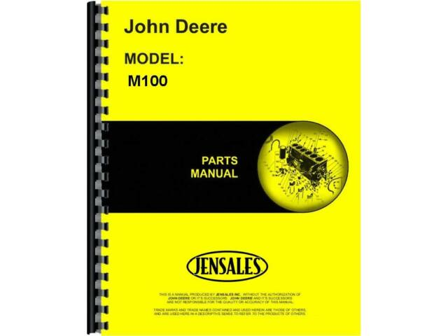 John Deere M100 Cultivator Parts Manual (JD-P-PC21