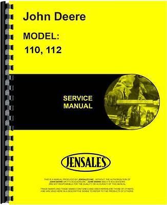 John Deere 110 112 Lawn Garden Tractor Service Manual Jd-s-sm2088
