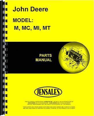 John Deere M Mi Mt Tractor Mc Crawler Parts Manual Jd-p-pc848