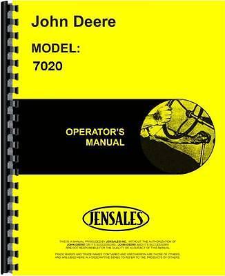 John Deere 7020 Tractor Operators Manual 2700 And Up