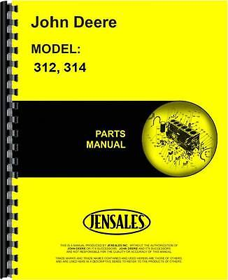 John Deere 312 314 Lawn Garden Tractor Parts Manual Jd-p-pc1618