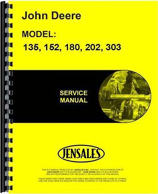 John Deere 135 152 Power Unit Service Manual Jd-s-sm2080