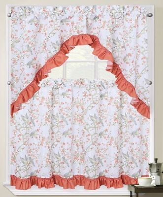 3 pc Curtains Set: 2 Tiers (27