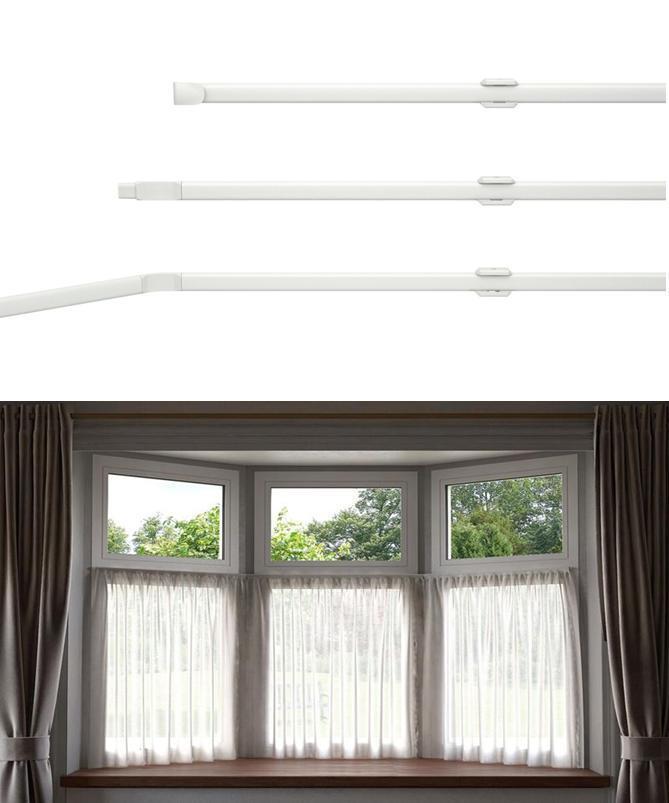 Net Curtain Flexi Track Rod For Bay Windows Upto 475cm