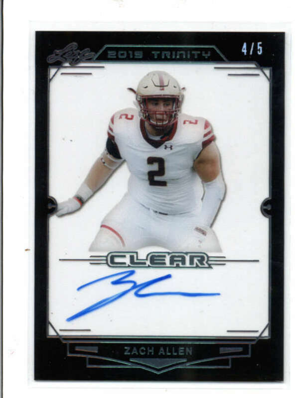 Zach Allen Football Card Database - Newest Products will be shown ...