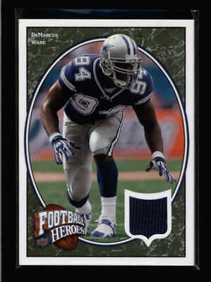 DEMARCUS WARE 2008 UPPER DECK FOOTBALL HEROES GAME USED WORN JERSEY AN2657 image