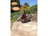 Gardeco Large Chim-art Gota Mexican Chimenea Fire Pit - FREE DELIVERY