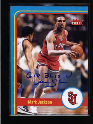 MARC JACKSON 2012/13 FLEER RETRO #46 ST. JOHNS AUTOGRAPH
