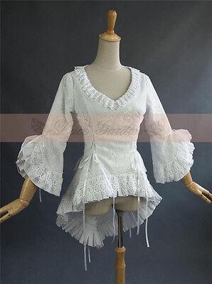 Lolita Gothic Barbie Palace Retro Lace Falbala White or Black Half Sleeve Coat