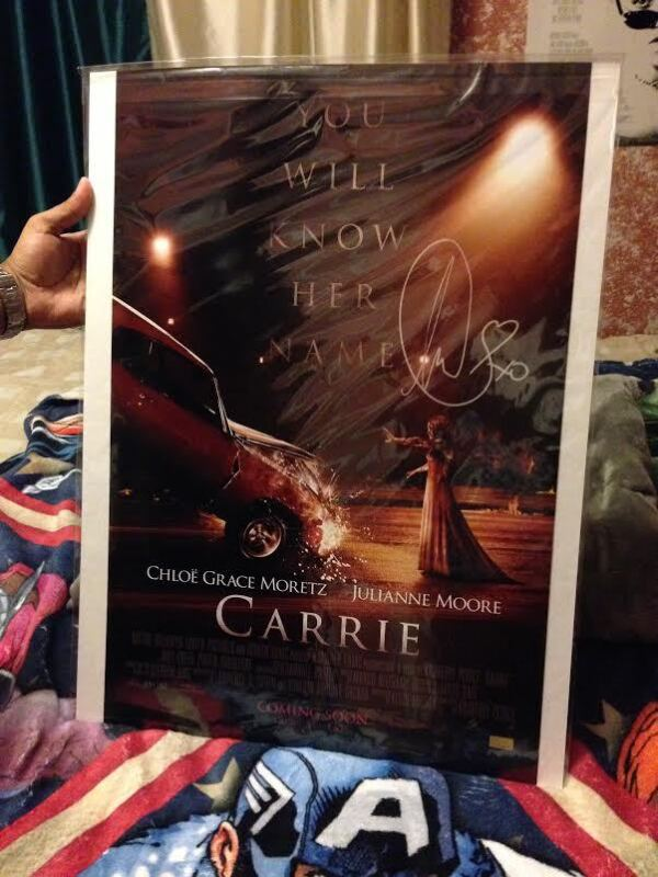 Chloe Grace Moretz Autographed 16×24 Carrie Poster Rare With Proof