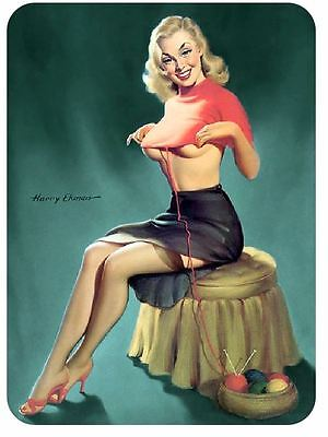 Vintage Style Pin Up Girl Sticker P88 Pinup Girl Sticker