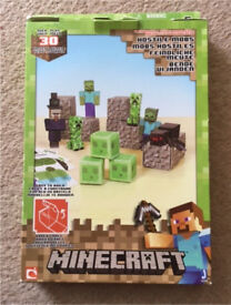 Minecraft Paper Craft Hostile Mobs 30 pieces - never used,