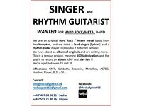 Singer and Rhythm guitarist WANTED