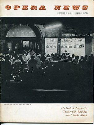 Rudolf Bing Lucrezia Bori Dorothy Kirsten Oct 8 1960 Opera News Magazine Issue