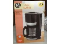 Filter Coffee Machine: 1.25L 980W: Morrisons Own Brand: Used Twice